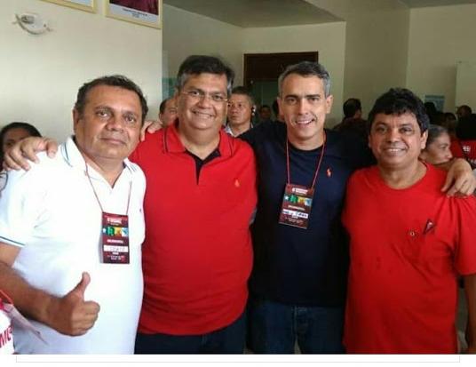 Augusto Lobato comemora eleição com Flávio Dino, Márcio Jardim e Márcio Jerry