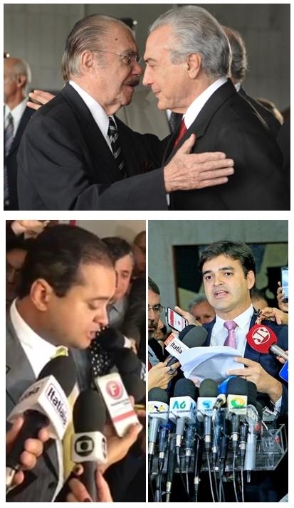 José Sarney aconselhiu Michel temer a resistir; Weverton e Ruben Jr. atuam fortemente pela sua deposição