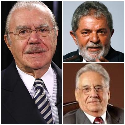 José Sarney, Lula da Silva e Fernando Henrique devem influenciar na escolha do novo presidente