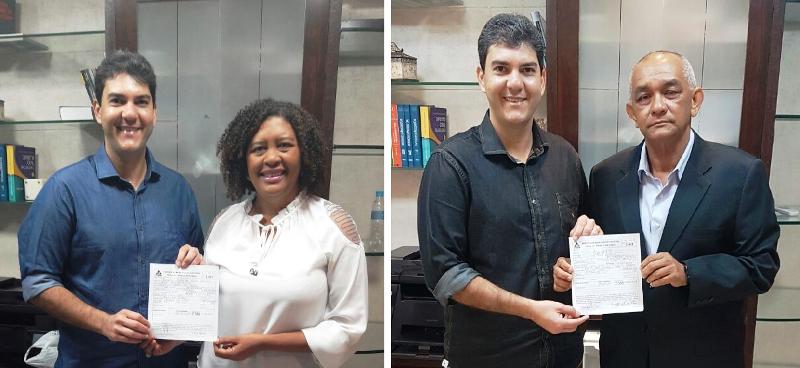 Eduardo Braide nos atos de filiação de Rose Sales e coronel Ivaldo Barbosa