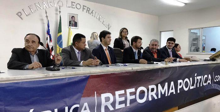 Sebastião Madeira, Márlon Reis, Eduardo Braide e Ruben Jr. debatem Reformna Politica em Imperatriz