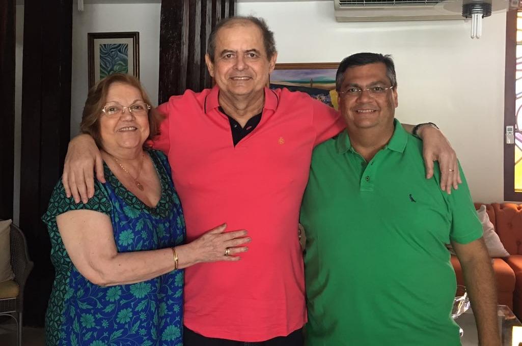 Ao lado da esposa Cleide Coutinho, Humberto Coutinho comemora visita de Flávio Dino