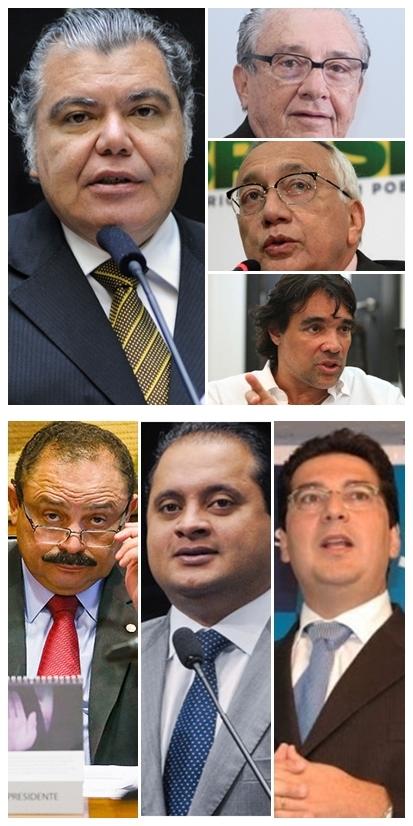 Sarney Filho lidera e José Reinaldo, Gastão Vieira e Lobão Filho estão empatados.  Waldir Maranhão, Weverton Rocha e Clóvis Fecury no pelotão de trás