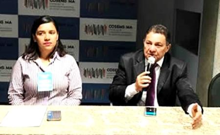 Cleomar Tema fala na assembleia de secretários municipais de Saúde