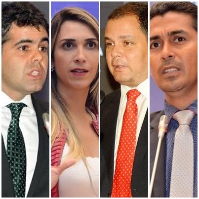 Adriano Sarney, Andrea Murad, Rogério Cafeteira e Marco Aurélio: embate no plenário
