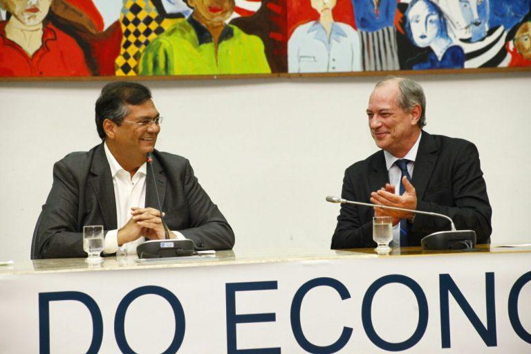 Flávio Dino é elogiado por Ciro Gomes durante encontro de economistas