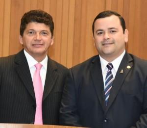 Marcos Caldas foi saudado por Vinícius Louro