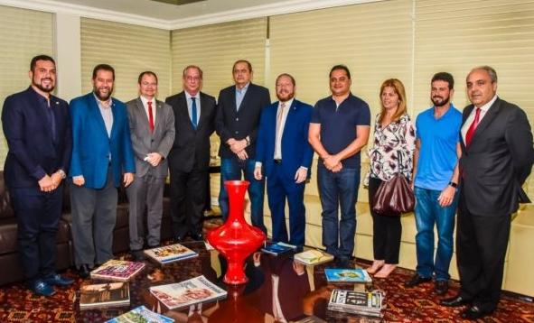 Humberto Coutinho recebe visita de Ciro Gomes e a cúpula do PDT cúpula