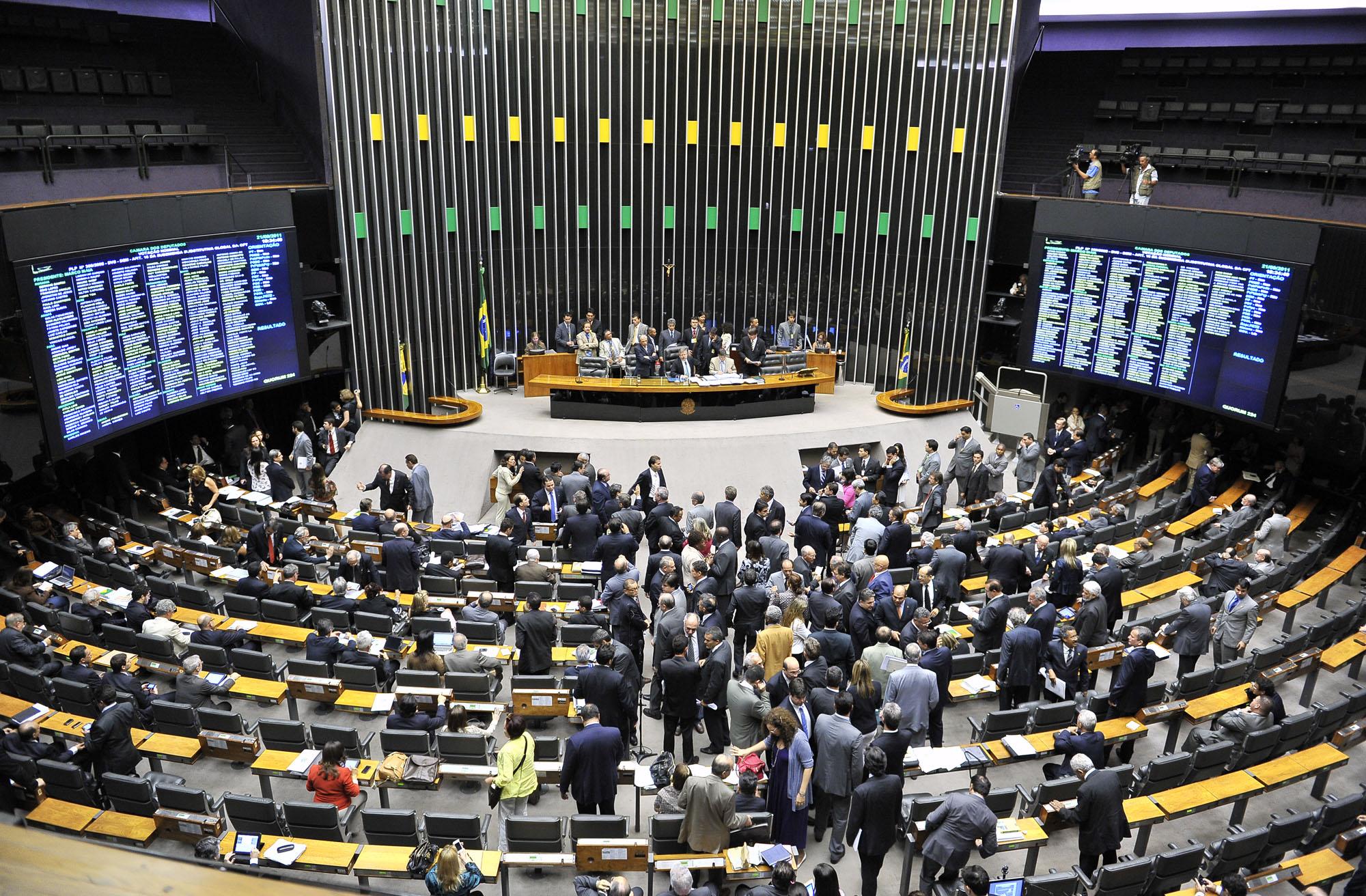 O plenário da Câmara será palco das decisões da reforma Política