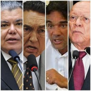 Sarney Filho, Edison Lobão, Lobão Filho e João Alberto: acertos para o Senado