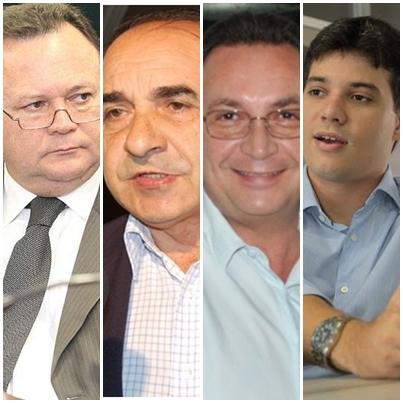 Carlos Brandão, Sebastião Madeira, Luis Fernando Silva e Neto Evangelistas: líderes que podem unir o PSDB