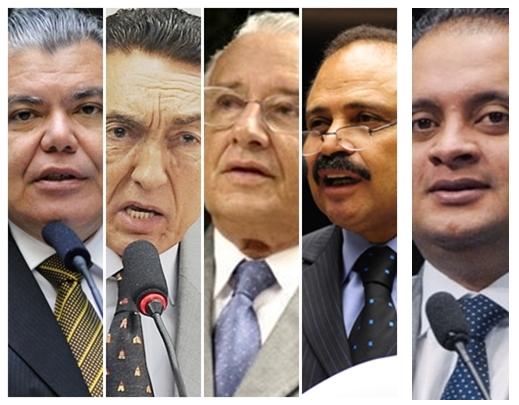 Sarney Filho, Edison Lobão, José Reinaldo, Waldir Maranhão e Weverton Rocha: posições lógicas
