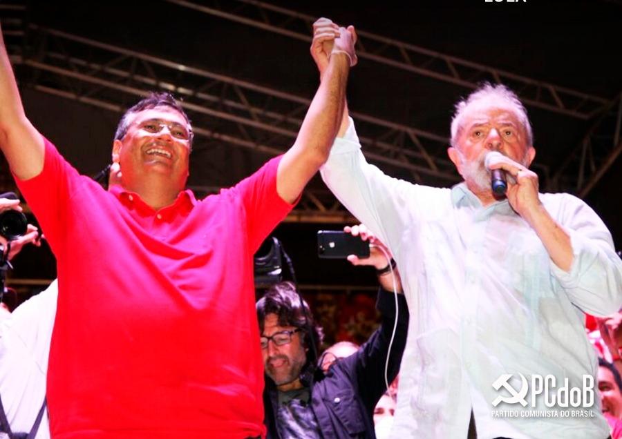 Flávio Dino e Lula: aliança  firme para 2018