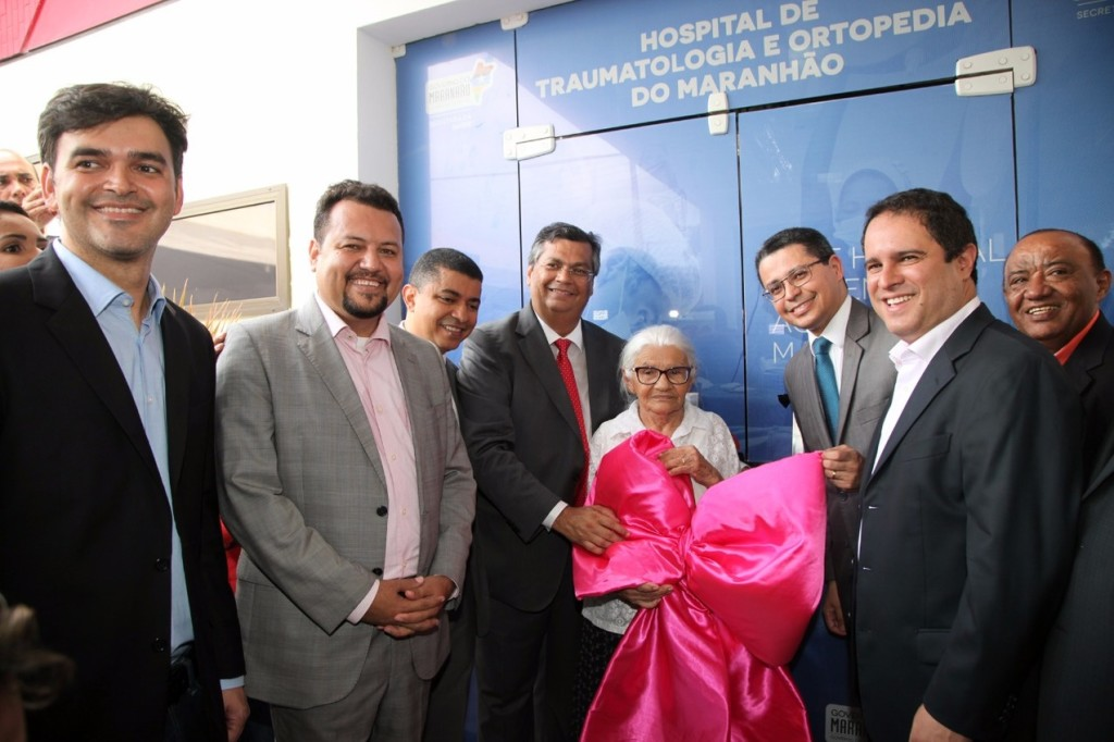 Governador Flávio Dino entregou o novo Hospital de Traumatologia e Ortopedia, em São Luís. Foto: Handson Chagas/Secap
