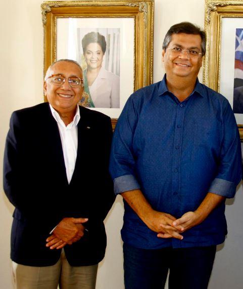 Gastão Vieira e Flávio Dino: aliança fortalece posição do governador