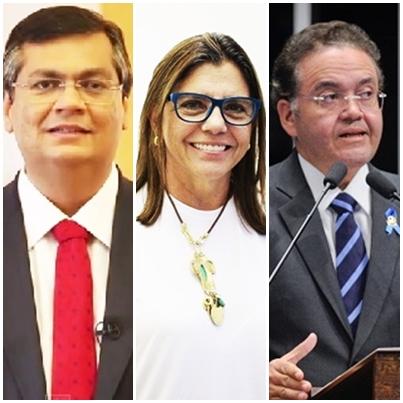 Flávio Dino, Roseana Sarney e Roberto Rocha vão para o confronto direto