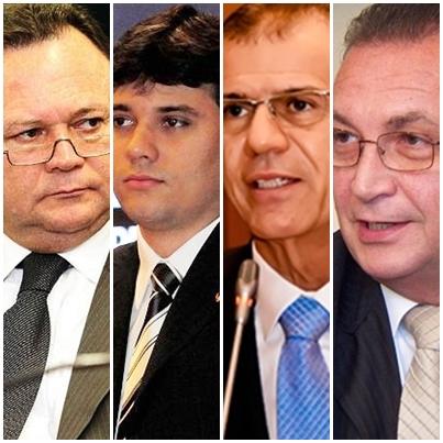 Carlos Brandão, Neto Evangelista, Sérgio Frota e Luis Fernando Silva