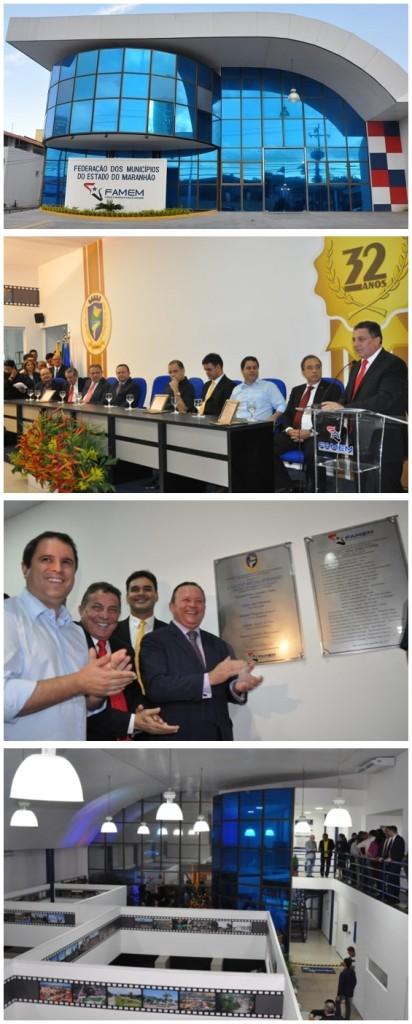 A fachada da nova sede inaugurada pelo presidente Cleomar Tema e autoridades, que aplaudiram o novo espaço