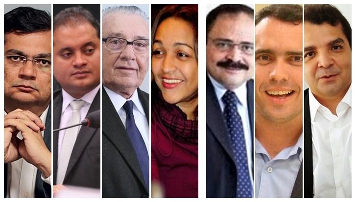 Flávio Dino terá de escolher dois entre Weverton Rocha, José Reinaldo, Eliziane Gama, Waldir Maranhão, Márcio Jardim e Hilton Gonçalo