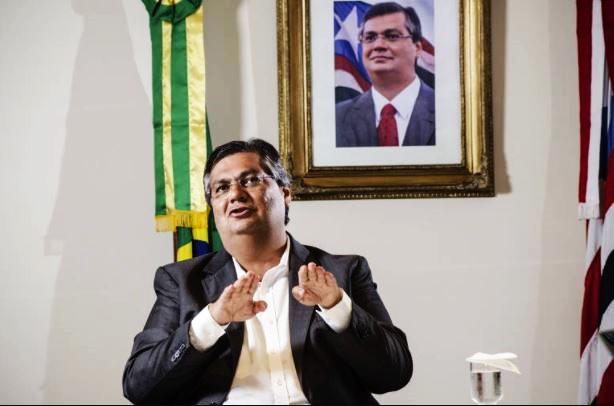 Flávio Dino durante a entrevista à equipe do Jornal Pequeno
