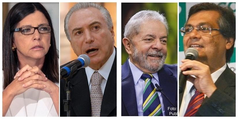 Roseana Sarney perde espaço com Michel temer e Flávio Dino ganha com Lula da Silva