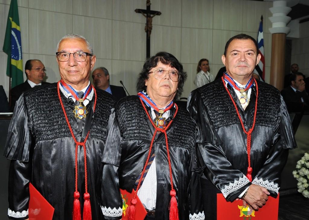 Os novos desembargadores Luiz Almeida Filho, José Lemos e José Jorge Figueiredo assumiram ontem em ato solene