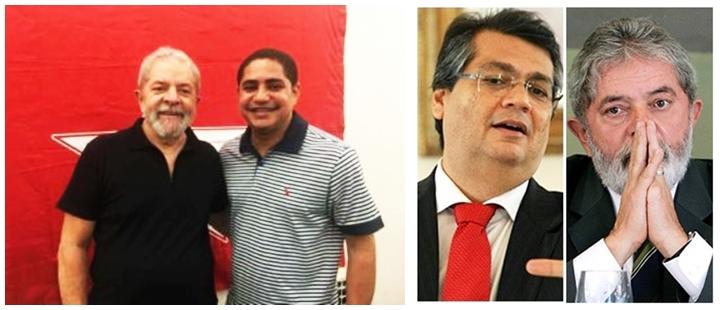 Lula com Zé Inácio, que garante que a luta continua, e com Flávio Dino, seu defensor