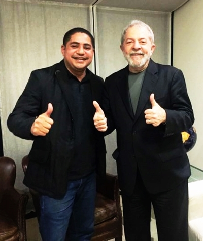 Zé Inácio e Lula: articulando a Frente em defesa do ex-presidente