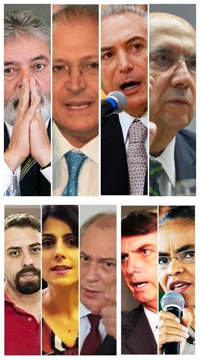 Lula da Silva, Geraldo Alckmin, Michel Temer, Henrique Meireles, Guilherme Boulos, Manuela D`Ávila, Ciro Gomes, podem fazer dobradinha no Maranhão; Jair Bolsonaro e Marina Silva não têm aliados definidos no estado