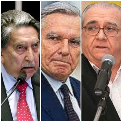Epitácio Cafeteira, Renato Archer e João Castelo articularam para isolar José Sarney em 1990 (a Coluna não conseguiu imagem de Cid Carvalho)