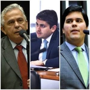 Pedro Fernandes, Juscelino Filho e André Fufuca: pressão para mudar rumo dos seus partidos