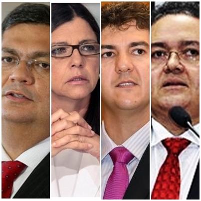 Flávio Dino, Roseana Sarney, Eduardo Braide e Roberto Rocha: movimentos em direção às urnas