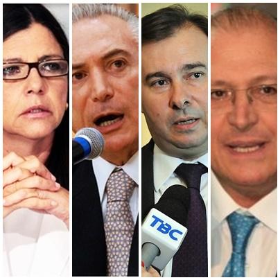 Roseana Sarney entre Michel temer, Rodrigo maia e Geraldo Alckmin na corrida presidencial