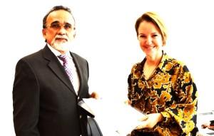José Luis Almeida e Rita de Cássia Baptista: parceria entre Ouvidorias