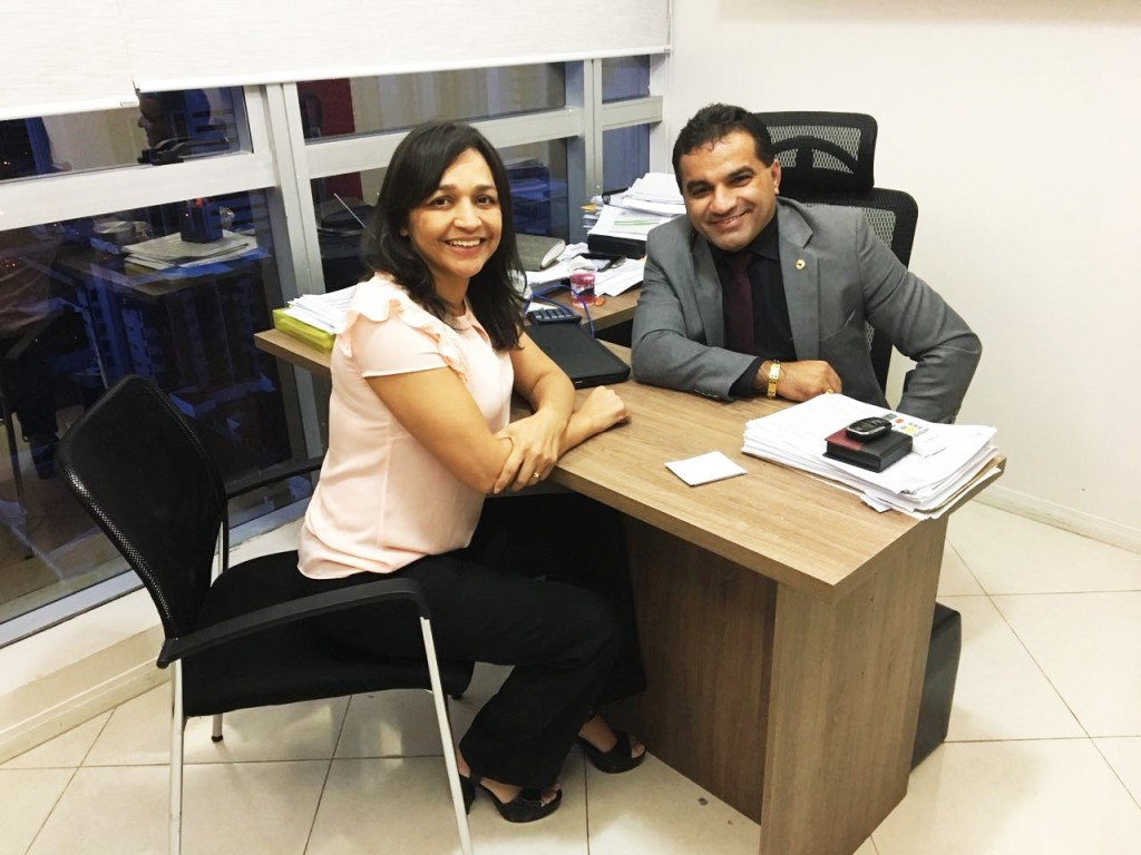 Eliziane Gama e Jopsimar de Maranhãozinhio: ampliado suporte partidário