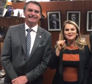 Jair Bolsonaro e Maura Jorge: aliança será confirmada no dia 16 de junho