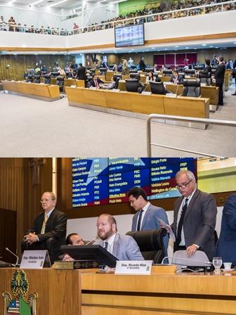 Plenário teve sessão movimentada, mas conduzida com firmeza pelo presidente Othelino Neto