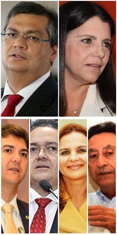 Flávio Dino lidera a corrida, seguido de Roseana Sarney, Eduardo Braide, Roberto Rocha, Maura Jorge e Ricardo Murad