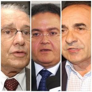 José Reinaldo, Roberto Rocha e Sebastião Madeira: clima pesado continua no PSDB