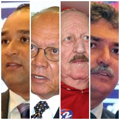 Roberto Costa, João Alberto, Zé Vieira e Carlinhos Florêncio: muito em jogo na eleição em Bacabal