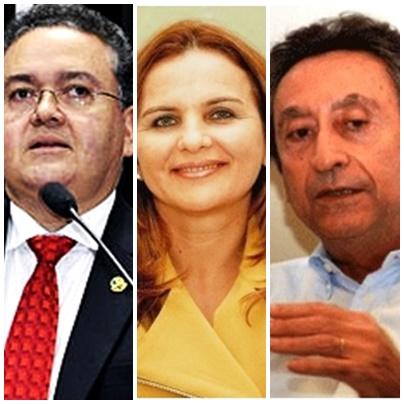 Roberto Rocha, Maura Jorge e Ricardo Murad: medição de força nas últimas posições