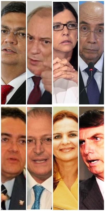 Flávio Dino e Ciro Gomes, Roseana Sarney e Henrique Meireles: indefinição; Roberto Rocha e Geraldo Alckmin e Maura Jorge e Jair Bolsonaro: situação definida