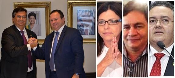 Flávio Dino comfirmou Carlos brandão; Roseana Sarney quer Ribinha Cunha como vice, Roberto Rocha também