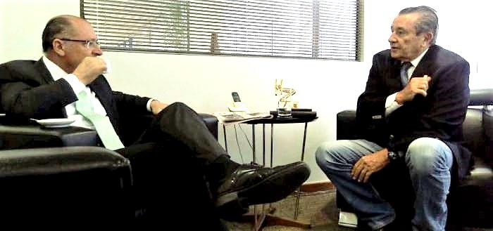 Geraldo Alckmin e José Reinaldo conversam sobre a cena política do maranhão e do País